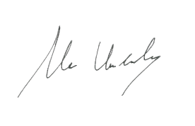 Mr Undandy's signature